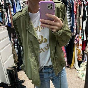 Gap size large olive green utility jacket